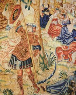 Древнегреческий бог Персей с косой