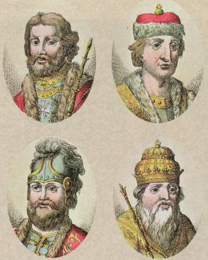 Ярослав, Святослав, Святополк и Владимир Мономах