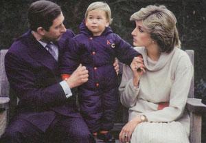 Принц Чарльз и принцесса Диана с маленьким принцем Уильямом